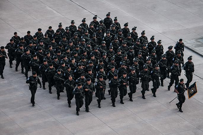Elementos de Fuerza de Tarea de la Secretaría de Seguridad Pública,
