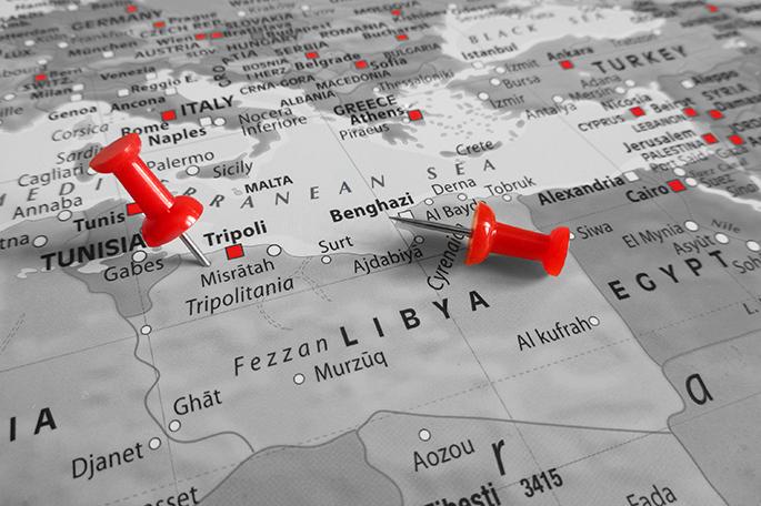 mapa, libia