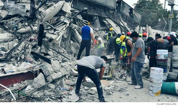 sismos del 7 y 9 de septiembre de 2017