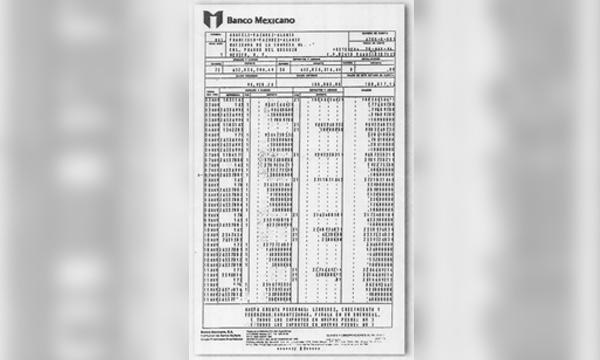Cheque de la Partida Secreta de Salinas