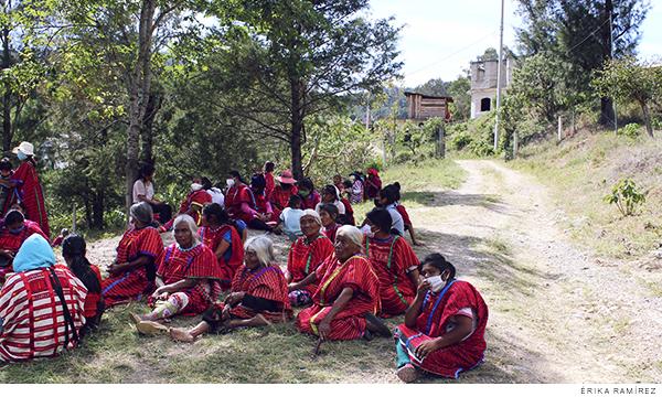 víctimas de desplazamiento forzado de la comunidad de Tierra Blanca Copala