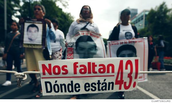 desaparición forzada de los 43 estudiantes de la Escuela Normal Rural Raúl Isidro Burgos, de Ayotzinapa