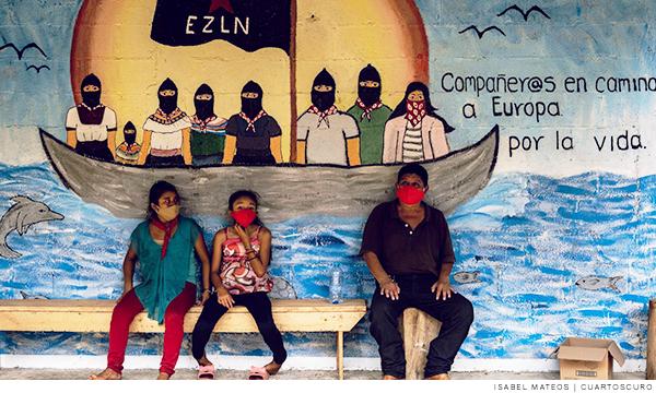 Miembros del EZLN