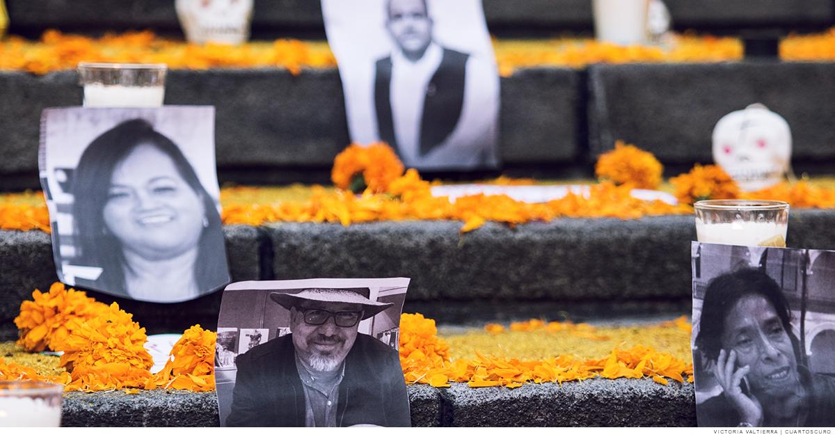Fotos de periodistas asesinados en México