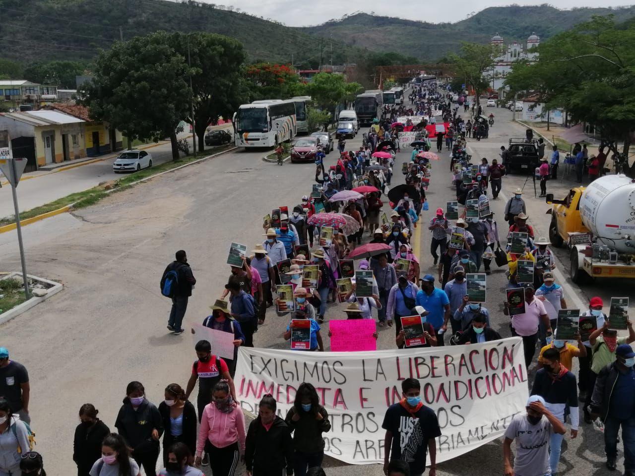 Manifestación de estudiantes normalistas rurales