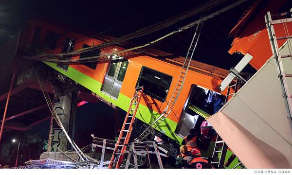 Accidente en la línea 12 del metro de la Ciudad de México