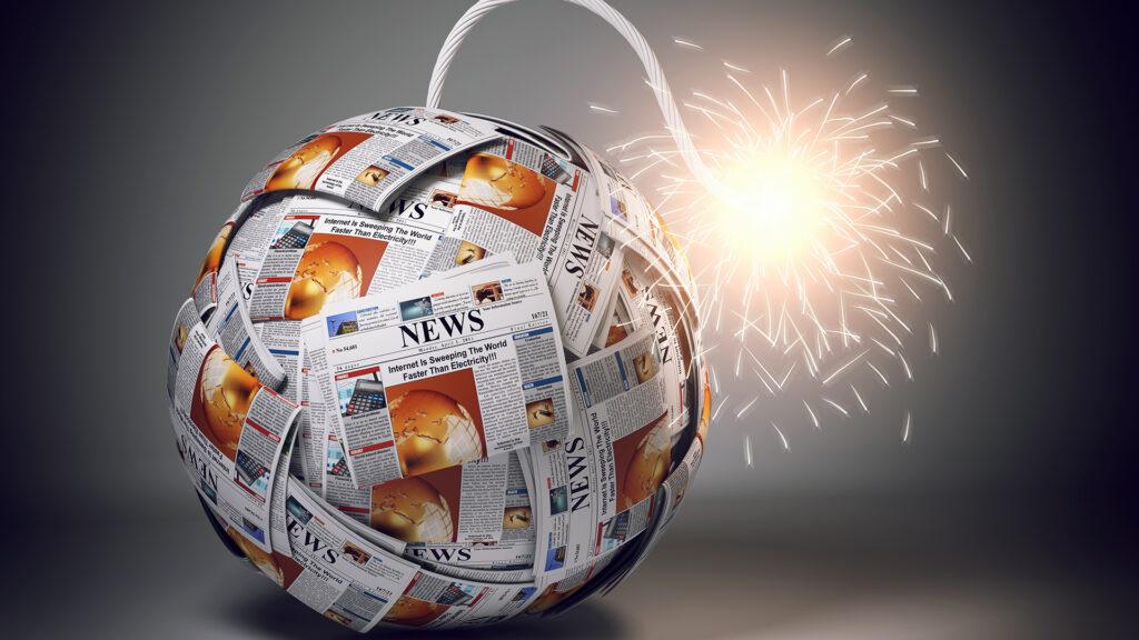 bomba formada por periódicos