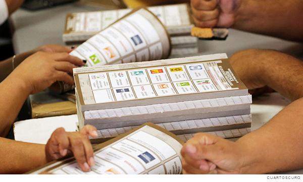 Boletas para el proceso electoral