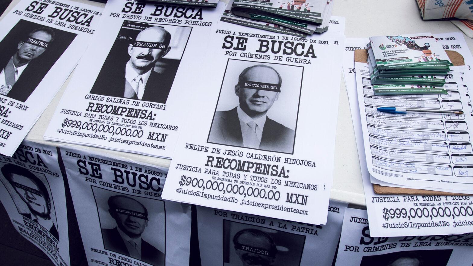 expresidentes de México en carteles de Se Busca