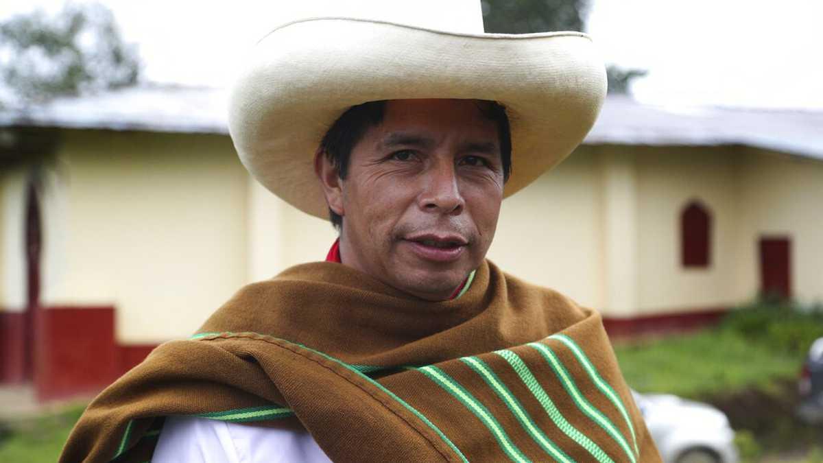 presidente electo de Perú, Pedro Castillo