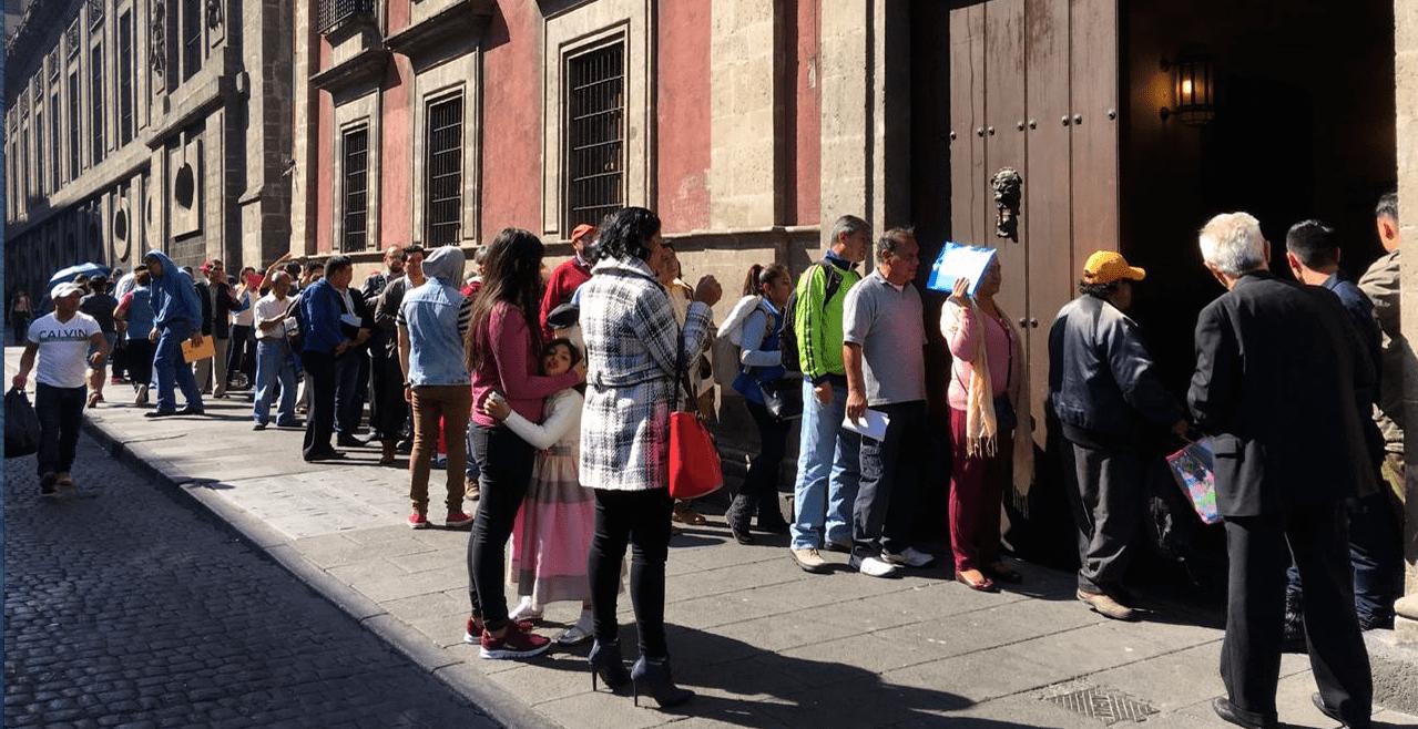 peticiones en Palacio Nacional