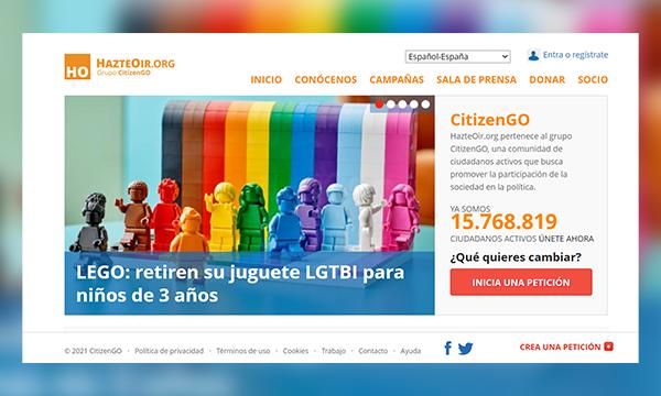 campaña contra LEGO de Hazte Oír