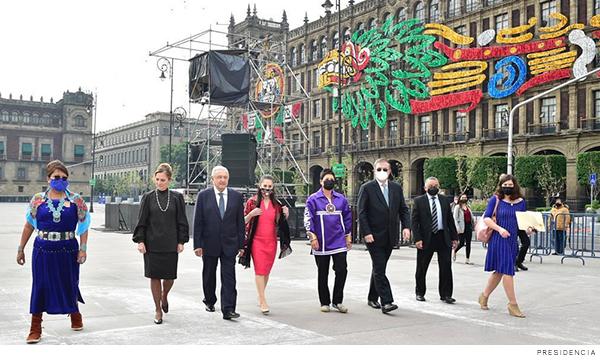 Ceremonia de conmemoración de la caída de Tenochtitlán