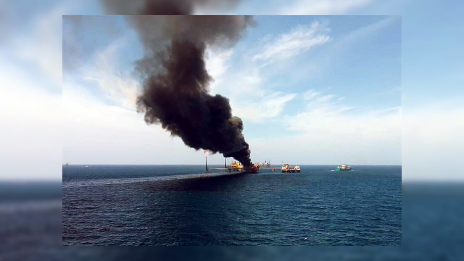 incendio en la plataforma E Ku Alfa, ubicada en la Sonda de Campeche