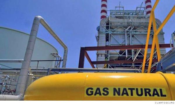 pipa de gas natural