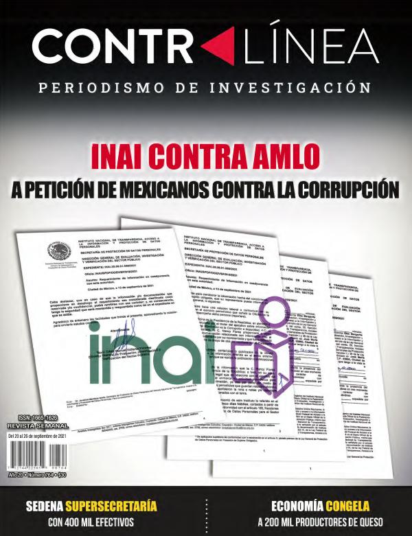 Inai contra AMLO a petición de Mexicanos contra la Corrupción