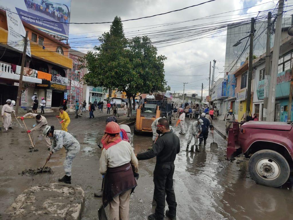 Imgane de inundaciones en Hidalgo