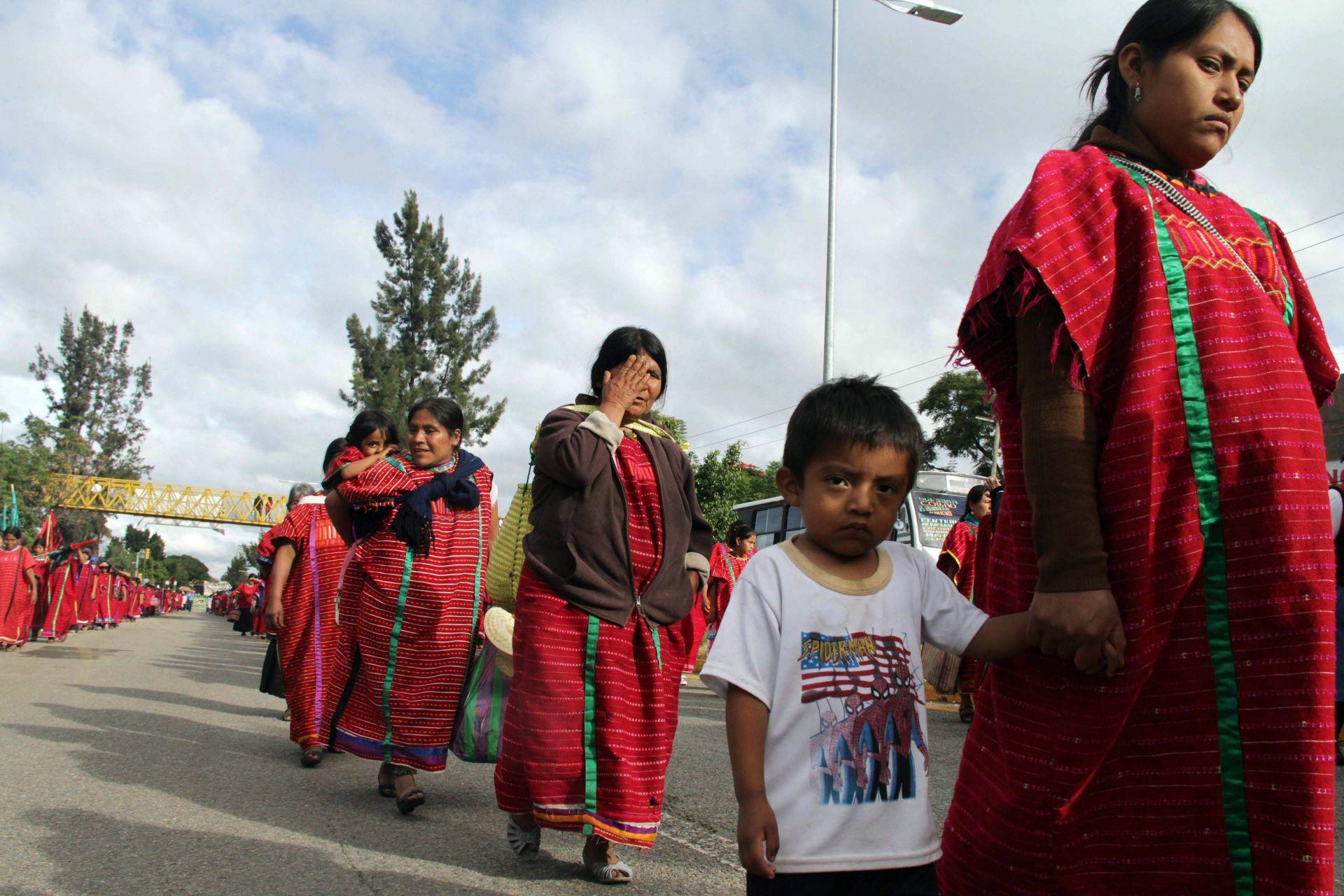 Indígenas de la región Triqui de Oaxaca