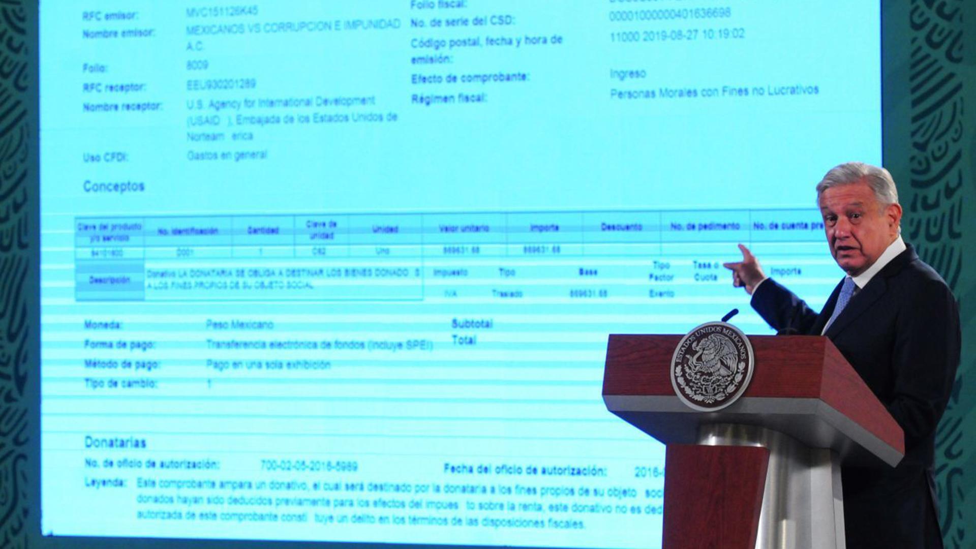 Imagen del titular de la presidencia de Mexico Andres Manuel Lopez Obrador